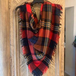 Coach Oversized scarf/wrap Multi color 100% wool